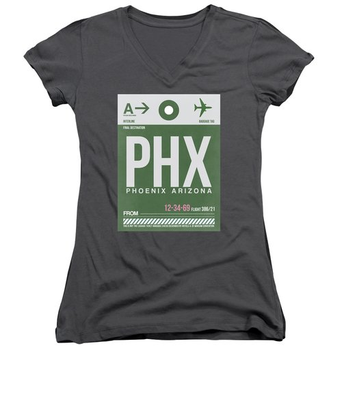 Phoenix Airport Poster 2 Women's V-Neck (Athletic Fit)