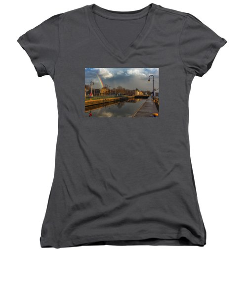 Phoenix Pot Of Gold Women's V-Neck T-Shirt (Junior Cut) by Everet Regal