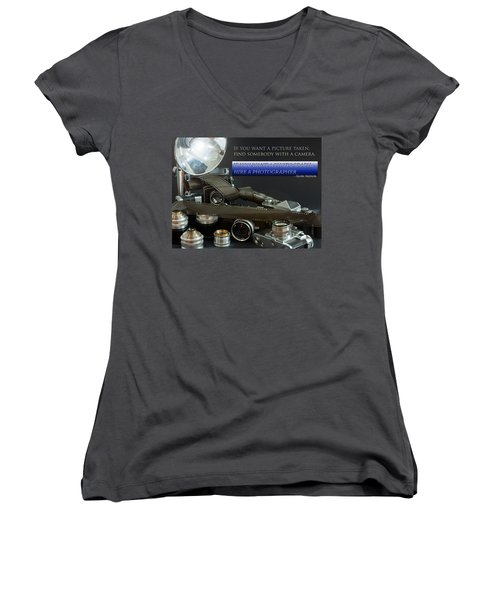 Photographer Quote Women's V-Neck
