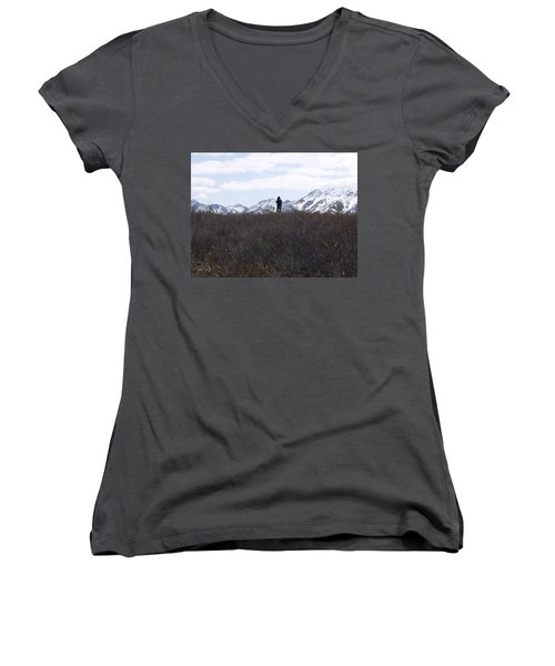 Photographing Nature   Women's V-Neck (Athletic Fit)