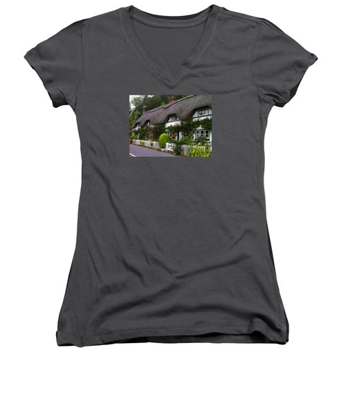 Picturesque Cottage Women's V-Neck T-Shirt
