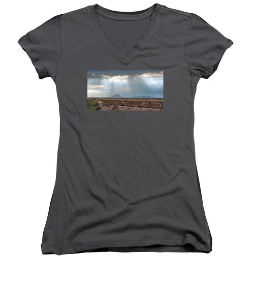 Dancing In The Light Women's V-Neck T-Shirt (Junior Cut) by Tam Ryan