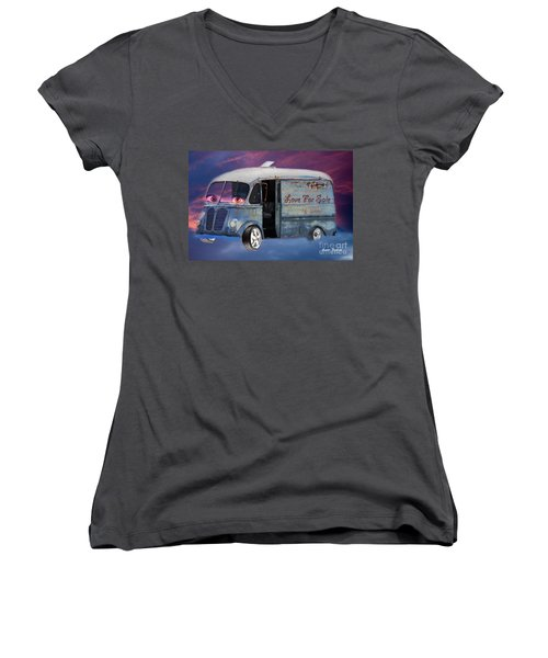 Pin Up Cars - #2 Women's V-Neck