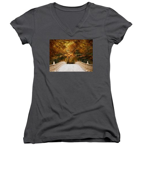 Pine Bank Autumn Women's V-Neck
