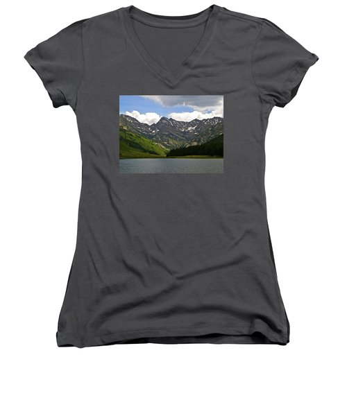 Piney Lake Vail Colorado Women's V-Neck (Athletic Fit)