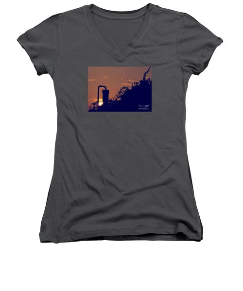 Pittsburgh Sunset  Women's V-Neck (Athletic Fit)