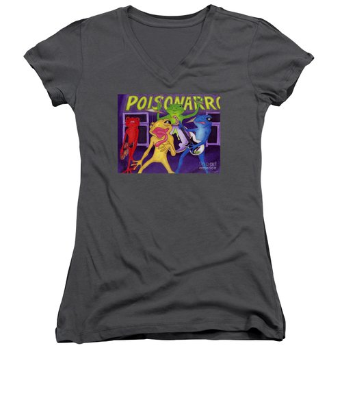 Poison-arrow Frog Band Women's V-Neck (Athletic Fit)