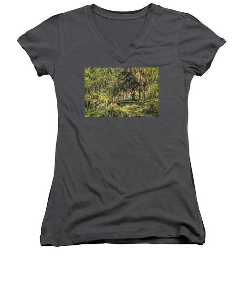 Pond Reflections Women's V-Neck T-Shirt