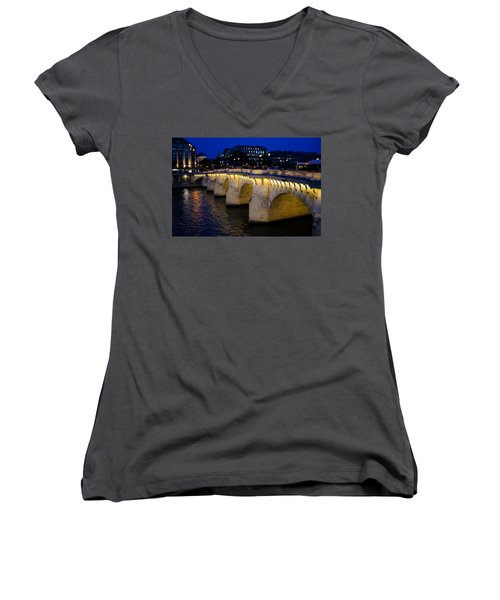 Pont Neuf Bridge - Paris - France Women's V-Neck