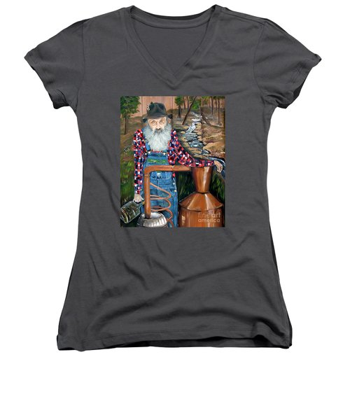 Popcorn Sutton - Bootlegger - Still Women's V-Neck (Athletic Fit)