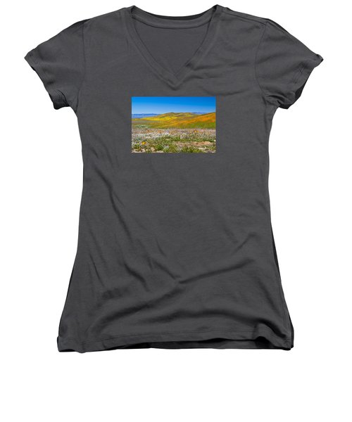 Poppy Fields Women's V-Neck (Athletic Fit)