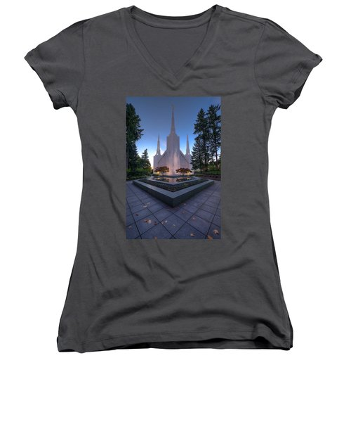Portland Temple Women's V-Neck