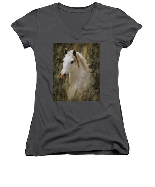 Portrait Of A Horse God Women's V-Neck (Athletic Fit)