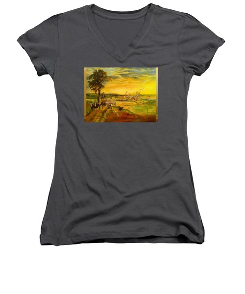 Pose2 Women's V-Neck T-Shirt