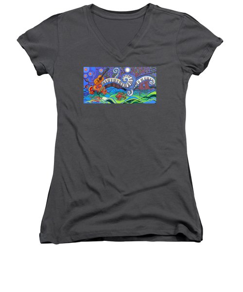 Power Of Music II  Women's V-Neck T-Shirt