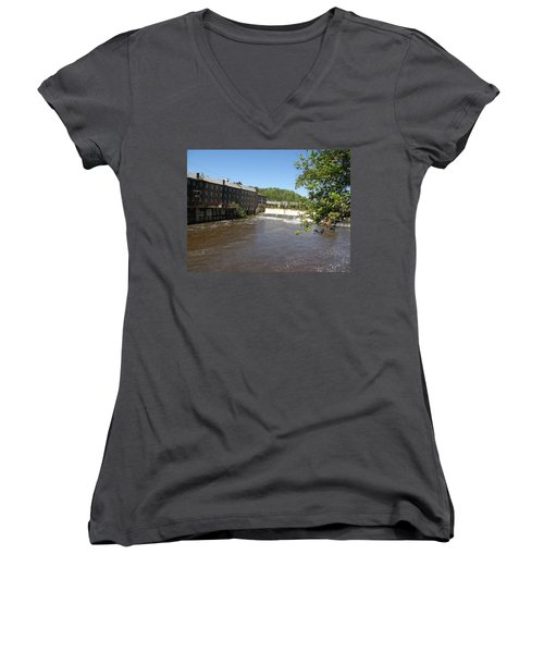Pratt Cotton Factory Women's V-Neck T-Shirt (Junior Cut) by Caryl J Bohn