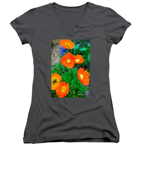 Pretty In Orange Women's V-Neck (Athletic Fit)