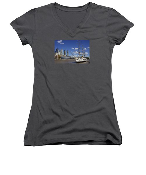 Puerto Madero Buenos Aires Women's V-Neck T-Shirt