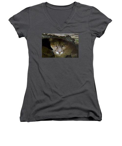 Puma Women's V-Neck T-Shirt (Junior Cut) by Bob Hislop