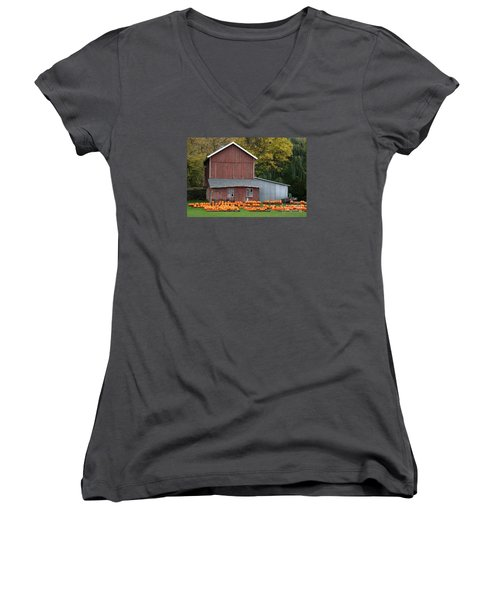 Pumpkins Women's V-Neck