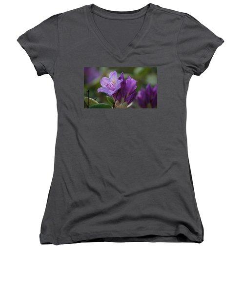 Purple Bloom Women's V-Neck T-Shirt