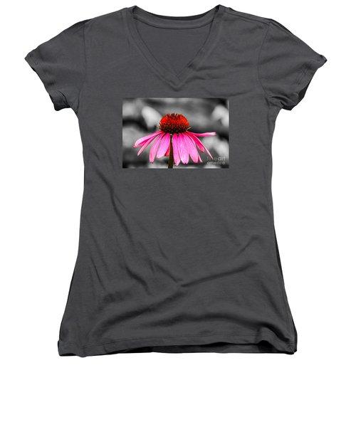 Purple Coneflower - Sc Women's V-Neck