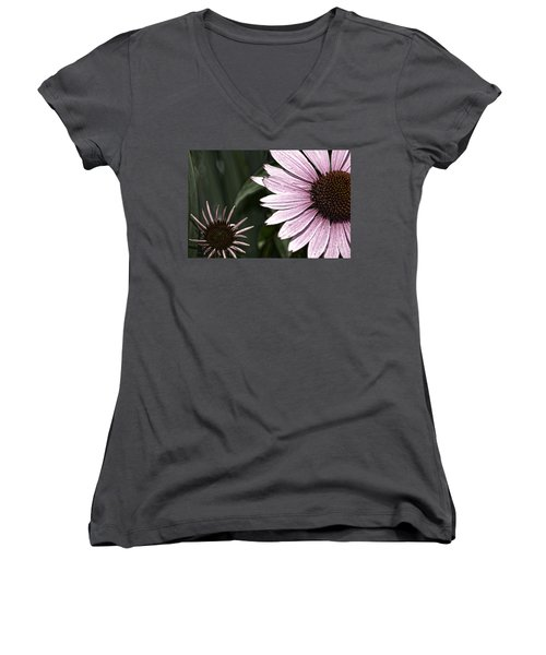 Purple Coneflower Imperfection Women's V-Neck (Athletic Fit)