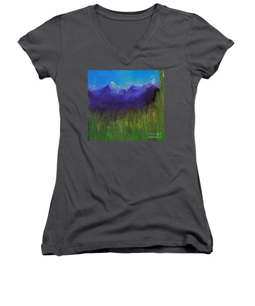 Purple Mountains By Jrr Women's V-Neck (Athletic Fit)