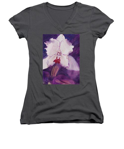 Purple Orchid Women's V-Neck T-Shirt