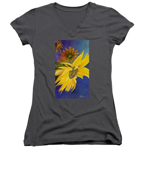 Puttin' On A Sunny Face Women's V-Neck T-Shirt