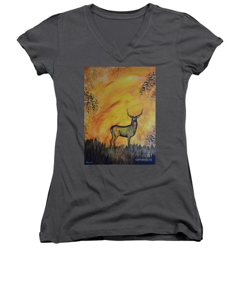 Quiet Time3 Women's V-Neck T-Shirt