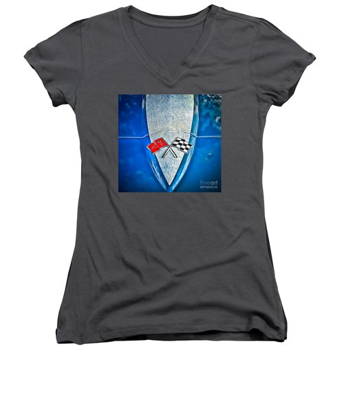 Race To Win Women's V-Neck (Athletic Fit)