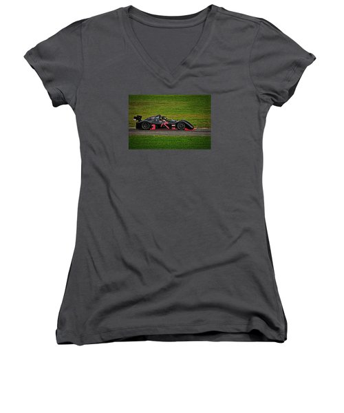 Women's V-Neck T-Shirt (Junior Cut) featuring the photograph Radical Sr3 by Mike Martin