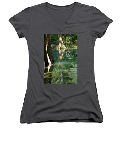 Radium Springs Creek In The Summertime Women's V-Neck (Athletic Fit)