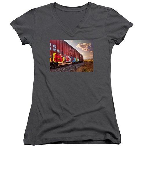 Railways Women's V-Neck (Athletic Fit)