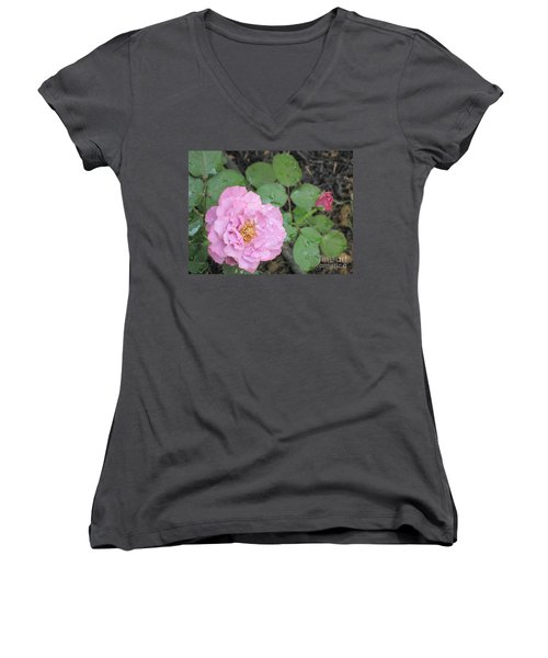 Rain Kissed Rose Women's V-Neck