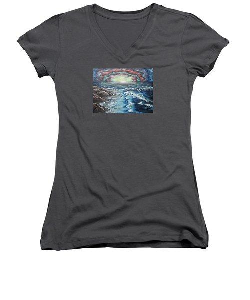 Rainbow Skies Women's V-Neck T-Shirt