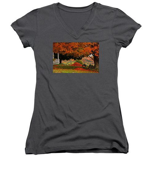 Raking's All Done... Women's V-Neck (Athletic Fit)