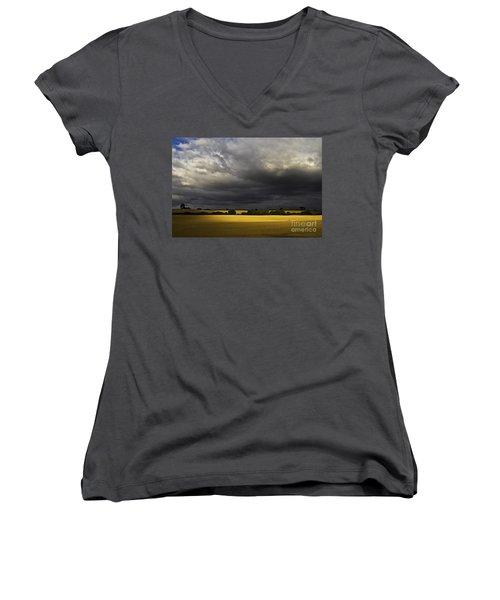 Rapefield Under Dark Sky Women's V-Neck T-Shirt