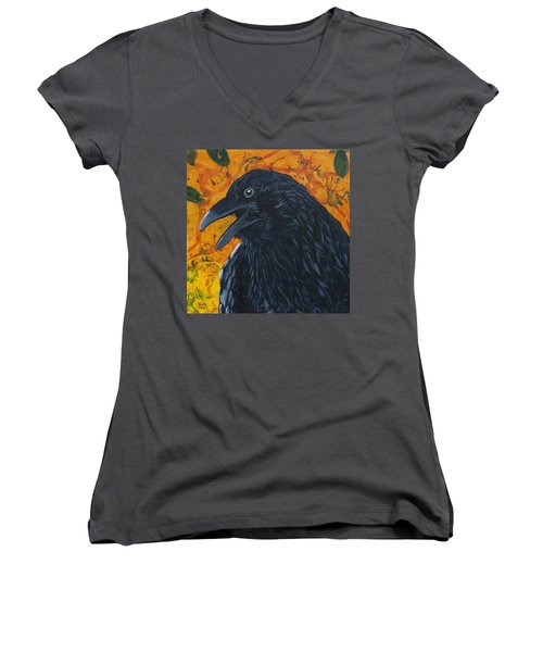 Raven Festival Women's V-Neck T-Shirt