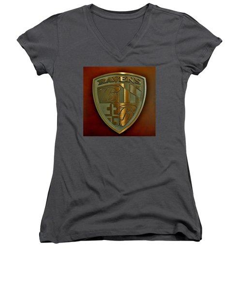 Ravens Coat Of Arms Women's V-Neck (Athletic Fit)