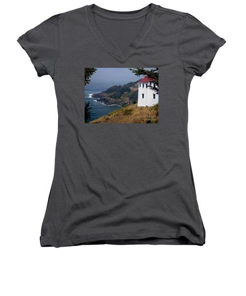 Raw Powerful Beauty Women's V-Neck T-Shirt (Junior Cut) by Fiona Kennard