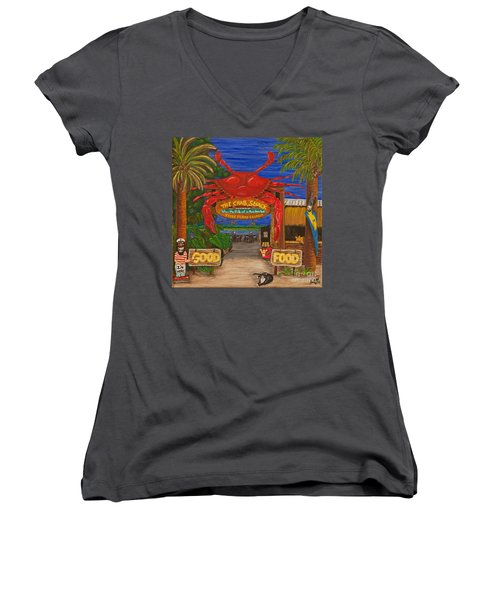 Ready For The Day At The Crab Shack Women's V-Neck (Athletic Fit)