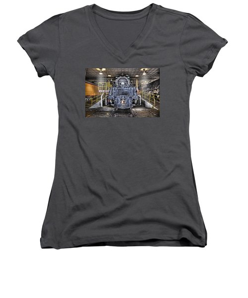 Women's V-Neck T-Shirt (Junior Cut) featuring the photograph Ready To Begin My Restoration by Ken Smith