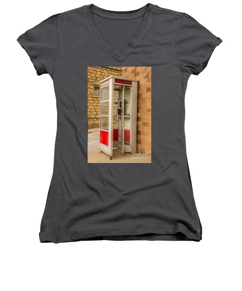 Women's V-Neck T-Shirt (Junior Cut) featuring the photograph Before Cell Phones by Sue Smith