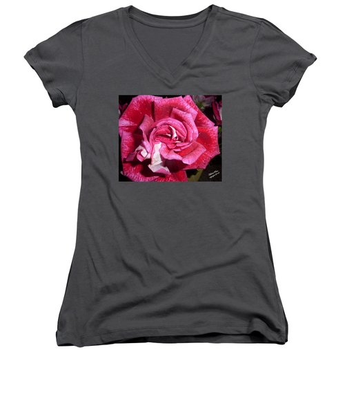 Red Beauty 2  Women's V-Neck (Athletic Fit)