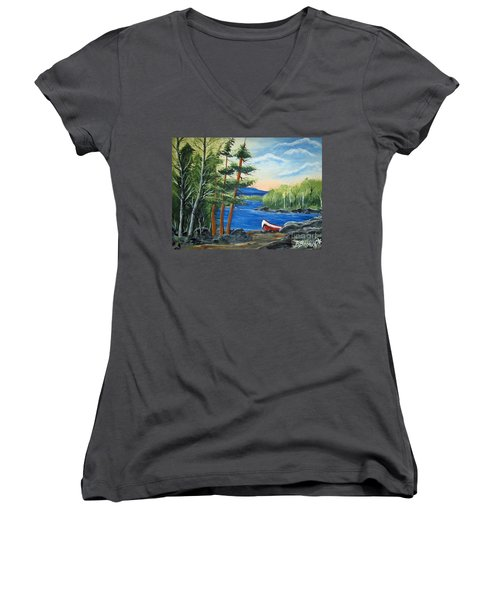 Red Canoe Women's V-Neck (Athletic Fit)