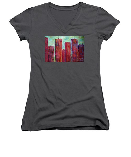 Red In The City Women's V-Neck