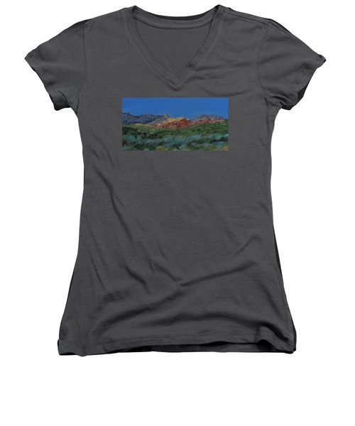 Red Rock Canyon Panorama Women's V-Neck