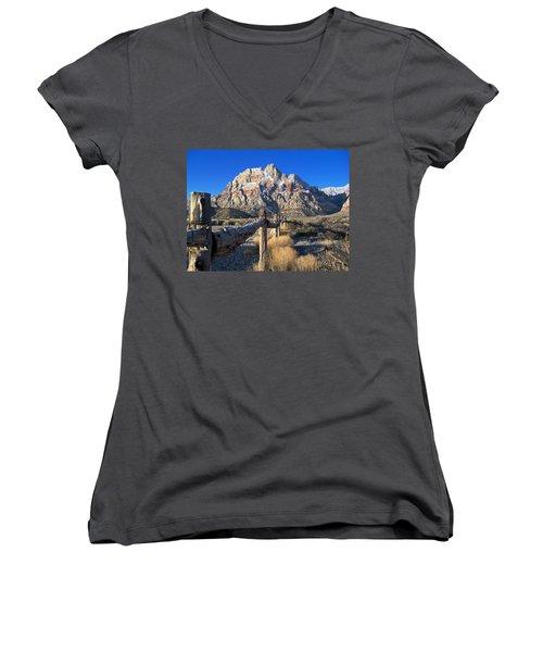 Red Rock Snow Women's V-Neck T-Shirt